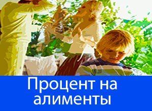 Сколько процентов от зарплаты составляют алименты на детей